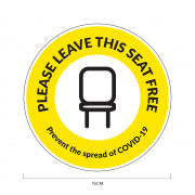Seat Free Social Distancing Sticker 15*15cm Printing  Display & Signages ZST1013YLW