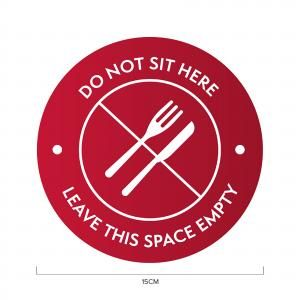 Do Not Sit Here Social Distancing Sticker 15*15cm Printing  Display & Signages ZST1017RED