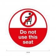 Do Not Sit Social Distancing Sticker 33*33cm Printing  Display & Signages ZST1020RWW
