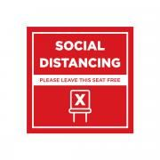 Social Distancing Seat Marking Sticker 10 x 10 cm Printing  Display & Signages Back To Work Personal Protective Equipment (PPE) Axxel_Social-Distancing-Seat-Marking-Sticker_1A