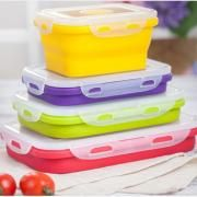 Collapsible Lunch Box 540ml Household Products Kitchenwares Eco Friendly HKL1017-2