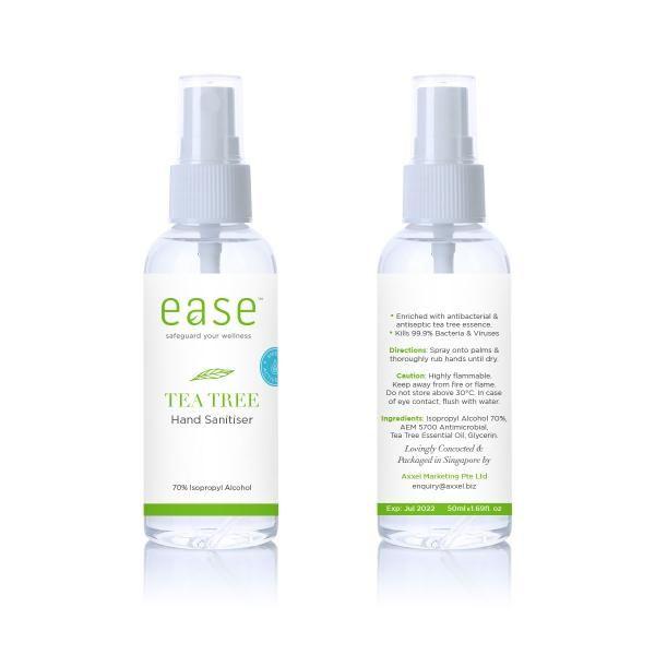 EASE 50ml Tea Tree Spray Sanitizer AEM Personal Care Products KHO1041_Axxel Ease Products_50ml(Tea Tree)(AEM)