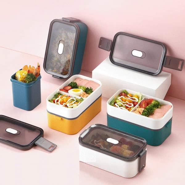 Carte Double Tier Microwaveable Lunch Box Household Products Kitchenwares Eco Friendly 3