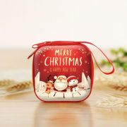 Christmas Coin Pouch Square 1 Recreation Small Pouch Festive Products TSP1102