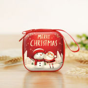 Christmas Coin Pouch Square 2 Recreation Small Pouch Festive Products TSP1103