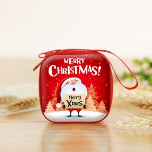 Christmas Coin Pouch Square 3 Recreation Small Pouch Festive Products TSP1104