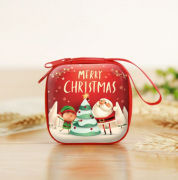 Christmas Coin Pouch Square 4 Recreation Small Pouch Festive Products TSP1105