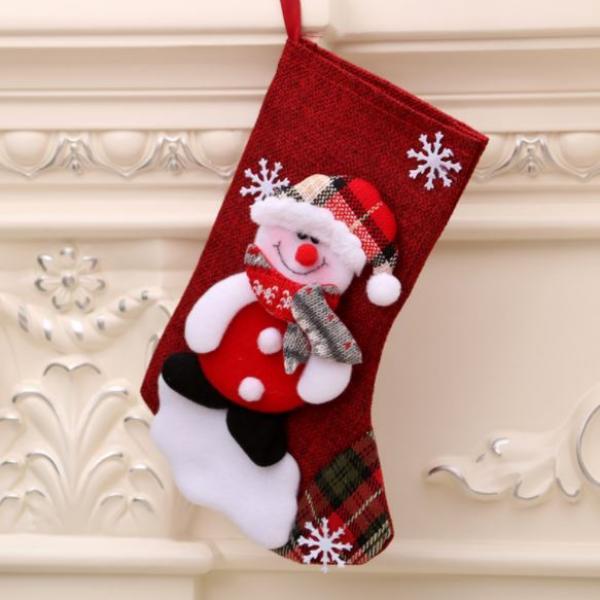 Christmas Socks Snowman Recreation Small Pouch Festive Products RGO1008