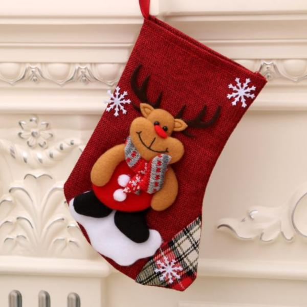 Christmas Socks Reindeer Recreation Small Pouch Festive Products RGO1009