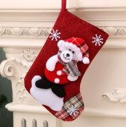 Christmas Socks Bear Recreation Small Pouch Festive Products RGO1010