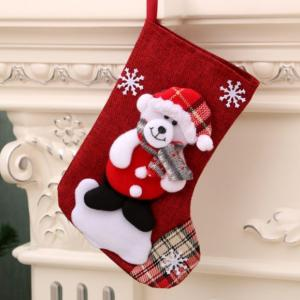 Christmas Socks Bear Recreation Small Pouch Festive Products RGO1010