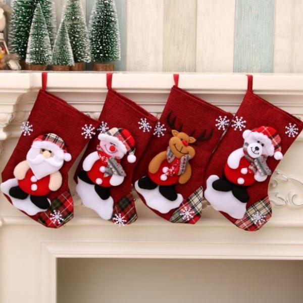 Christmas Socks Bear Recreation Small Pouch Festive Products z