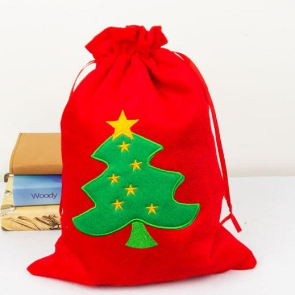 25x30cm Christmas Handy Pouch Tree Design Small Pouch Festive Products 3