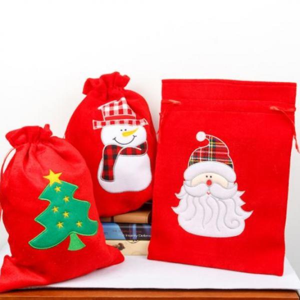 30x40cm Christmas Handy Pouch Santa Design Small Pouch Festive Products Capture