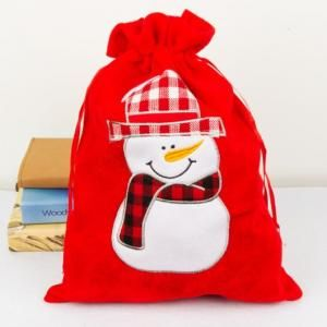 30x40cm Christmas Handy Pouch Snowman Design Small Pouch Festive Products 2
