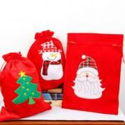 30x40cm Christmas Handy Pouch Snowman Design Small Pouch Festive Products Capture