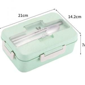 Fab Wheatstraw Lunch Box with Cutlery Set Household Products Kitchenwares Eco Friendly Clipboard12