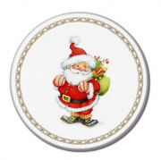 Santa Design  Diatomite Cup Coaster Household Products Festive Products HDO1009