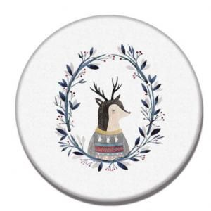 Reindeer Design Diatomite Cup Coaster Household Products Festive Products HDO1010