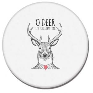 Reindeer Head  Diatomite Cup Coaster Household Products Festive Products HDO1011