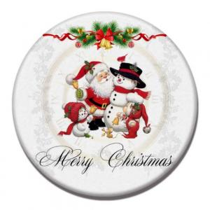 Snowman Design Diatomite Cup Coaster Household Products Festive Products HDO1014