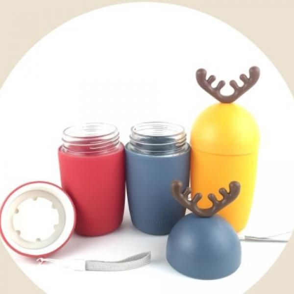 300ml Reindeer Design Water Flask Household Products Festive Products HDF1017-1