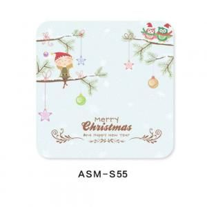 Christmas Design 5 Diatomite Cup Coaster Household Products Festive Products HDO1008
