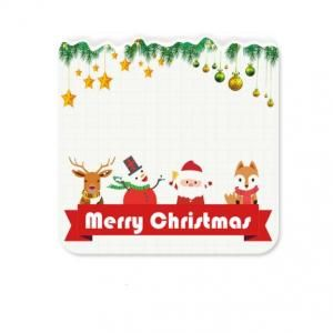 Christmas Design 2 Diatomite Cup Coaster Household Products Festive Products HDO1005