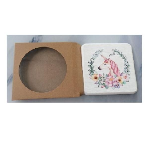 Christmas Design 2 Diatomite Cup Coaster Household Products Festive Products 0