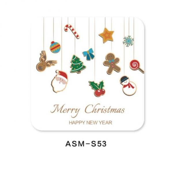 Christmas Design 3 Diatomite Cup Coaster Household Products Festive Products HDO1006