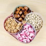 Wheatstraw Multi Compartment Snacks Container Household Products Festive Products Eco Friendly 2