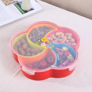 Flower Shape Multi Compartment Snacks Container Household Products Festive Products 1