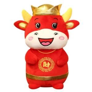 CNY Cow Plush Toy Recreation Festive Products Capture