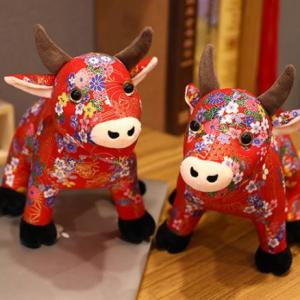 CNY Ox Plush Toy Recreation Festive Products Capture