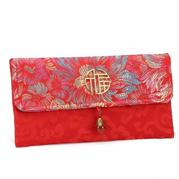 CNY Embroidery Design Pouch 5 Small Pouch Festive Products TSP1123