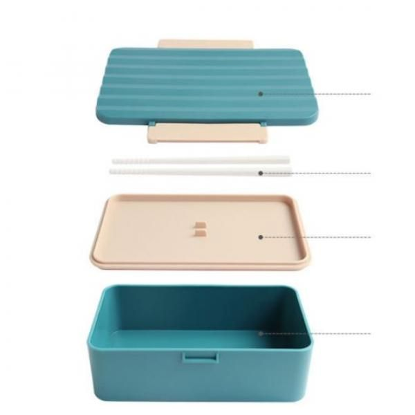 Japanese Microwaveable Lunch Box with Chopsticks Household Products Eco Friendly 3