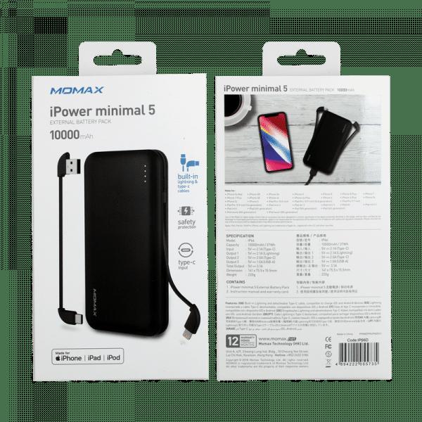 Momax iPower Minimal 5  External Battery Pack Electronics & Technology IP66D_en_10_800x800