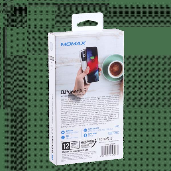 Momax Q.Power Air 2 Wireless External Battery Pack Electronics & Technology IP90W_08_800