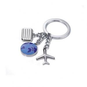 """Troika Keyring """"WELTENBUMMLER"""" Metals & Hardwares Keychains MKY1043"""