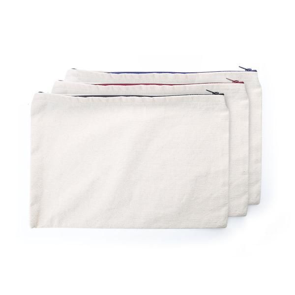 A4 Canvas Pouch with  Zipper Small Pouch Bags Eco Friendly TSP1101_1