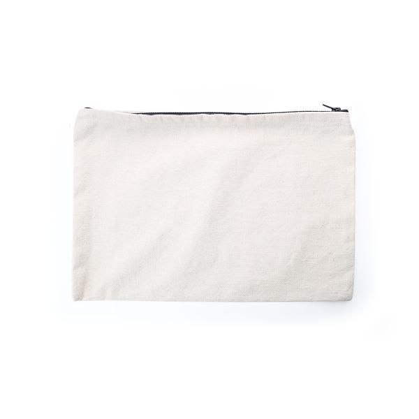 A4 Canvas Pouch with  Zipper Small Pouch Bags Eco Friendly TSP1101_Blk