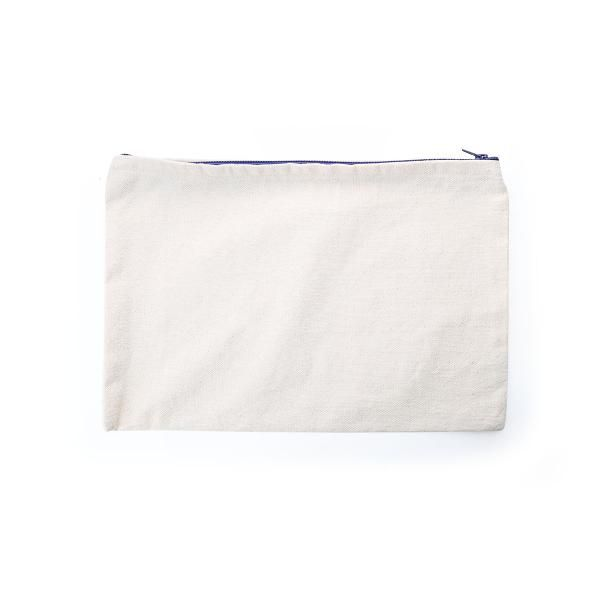 A4 Canvas Pouch with  Zipper Small Pouch Bags Eco Friendly TSP1101_Blu