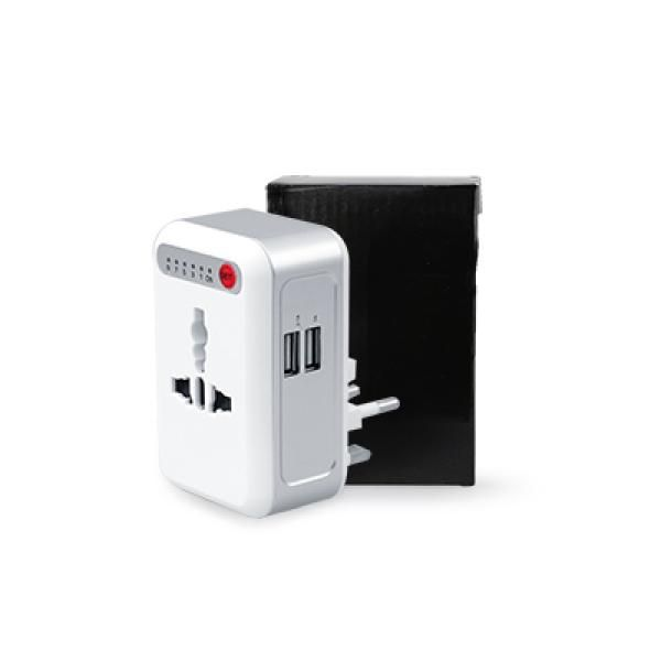 Smart Timing Universal Travel Adaptor with 2 USB hub (White Electronics & Technology Gadget EGT1004pack