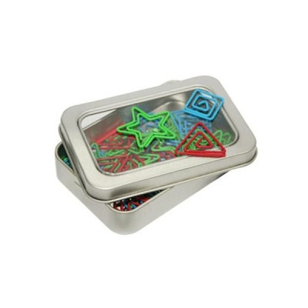 Assorted Shapely Clip In Tin Box  - AP Office Supplies Other Office Supplies Best Deals Give Back CHILDREN'S DAY Largeprod620