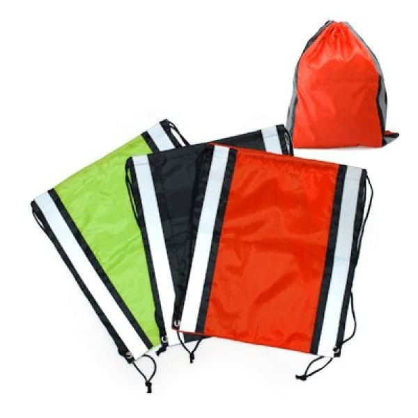 Drawstring Bag With Reflective Panel Drawstring Bag Bags Best Deals Give Back CHILDREN'S DAY Largeprod1039