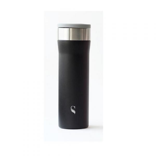 Satin Starlet Porcelain Thermal Flask with Handle Household Products Drinkwares HDF1018-BLK-SZ-T