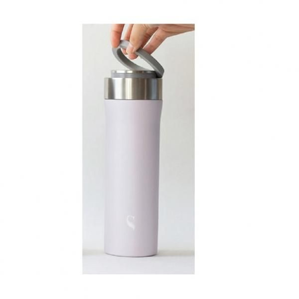 Satin Starlet Porcelain Thermal Flask with Handle Household Products Drinkwares HDF1018-PUR-SZ-T