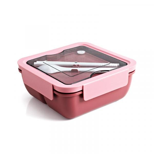 Wagon Square Lunch Box with Cutlery Household Products Kitchenwares Eco Friendly 5