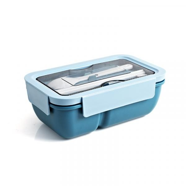 Wagon Rectangle Lunch Box with Cutlery Household Products Kitchenwares Eco Friendly 2