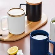 Ceramic Mug with Wooden Lid Household Products Drinkwares New Arrivals HDC1070-02